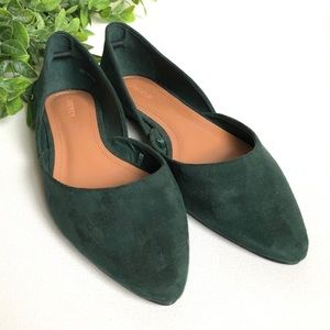 Forever 21 Green Faux Suede Flats